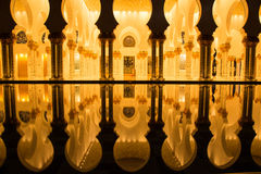 Sheikh Zayed Grand Mosque, Abu Dhabi United Arab Emirates Stock Photo