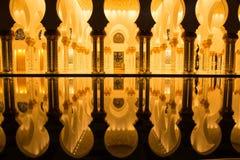 Sheikh Zayed Grand Mosque, Abu Dhabi United Arab Emirates Stock Photo