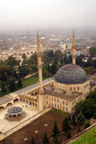 Mosque in Urfa. From the top of mount with castle, Turkey Royalty Free Stock Photo