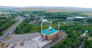 The mosque in Ust-Kamenogorsk stock video