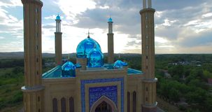 The mosque in Ust-Kamenogorsk stock video footage