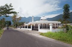 Mosque in the village at Lake Maninjau Stock Photos