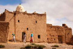 A Mosque in a village. Skoura. Morocco. Stock Images