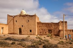 A Mosque in a village. Skoura. Morocco. Stock Photos