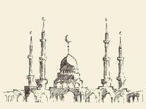 Mosque vintage illustration hand drawn sketch Stock Photo