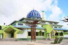 Mosque in Waisai stock images