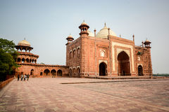 Mosque on the West side of Taj Mahal Royalty Free Stock Photography
