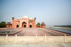 Mosque on the West side of Taj Mahal Royalty Free Stock Photo