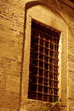 Mosque window. Night scene in Istanbul uskudar Stock Image