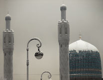 Mosque in winter royalty free stock images