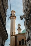 Mosquee在阿尔及尔市中心 库存图片