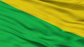 Mosquera-Stadt-Flagge, Kolumbien, Cundinamarca-Abteilung, Nahaufnahme-Ansicht Lizenzfreie Abbildung