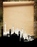 Mosques against an old scroll Stock Photos