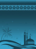 Mosques against starry night Stock Photo