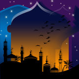 Mosques against starry night Stock Image
