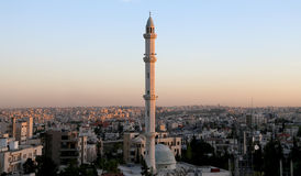 Mosques architecture in Amman, Jordan,  Middle East Royalty Free Stock Photo