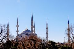 Mosques and Blue Sky. From Turkey Travel Stock Image