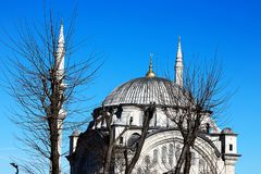 Mosques and Blue Sky. From Turkey Travel Royalty Free Stock Images