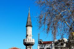 Mosques and Blue Sky. From Turkey Travel Royalty Free Stock Photos