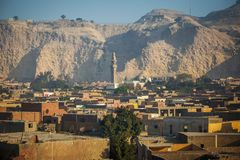 Mosques in Cairo city of Egypt landscape royalty free stock image