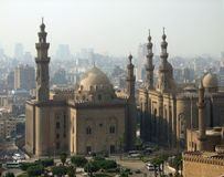 Mosques in Cairo at evening time Royalty Free Stock Image
