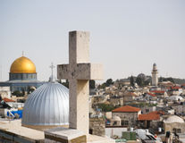 Mosques and churches in jerusalem Stock Images