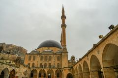 Mosques and historical works view from Urfa Turkey. A Muslim place of worship Royalty Free Stock Image