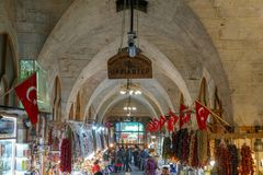 Mosques and historical works view from Urfa Turkey. A Muslim place of worship Stock Photo