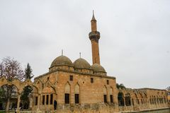 Mosques and historical works view from Urfa Turkey. A Muslim place of worship Royalty Free Stock Photo