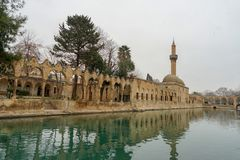 Mosques and historical works view from Urfa Turkey. A Muslim place of worship Stock Image