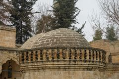 Mosques and historical works view from Urfa Turkey. A Muslim place of worship Royalty Free Stock Photos