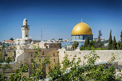 Mosques in old town of jerusalem israel Royalty Free Stock Image