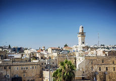 Mosques in old town of jerusalem israel Stock Photos