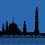 Mosques silhouette Royalty Free Stock Image