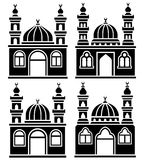 Mosques silhouettes stock illustration