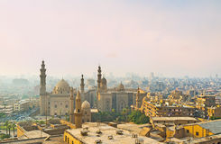 The mosques in smog Stock Photography