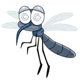 Mosquito. Illustration of Cartoon Mosquito on white royalty free illustration