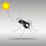 Mosquito black Icon button logo symbol Stock Images