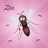Mosquito cartoon Royalty Free Stock Photos
