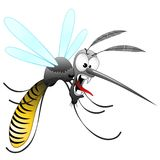 Mosquito Cartoon Ugly and Angry. Ungry, Ugly and Hungry Mosquito cartoon Character, createdon Vector Graphic Art Technique. Copyright BluedarkArt royalty free illustration