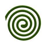Mosquito coil. Close up Mosquito coil isolated on white background Royalty Free Stock Image