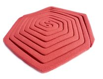 Mosquito Coil. Over white background Royalty Free Stock Photos