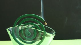 Mosquito coil incense smoke Stock Image