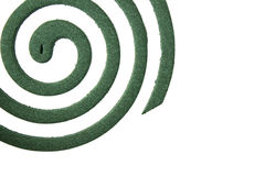 Mosquito coil isolated on white stock images
