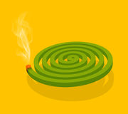 Mosquito Coil & Smoke. Computer generated artwork of mosquito coil & smoke Stock Photos