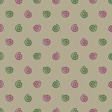 Mosquito coil summer seamless pattern. On brown background Stock Image