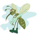 Mosquito com seringa imagem de stock