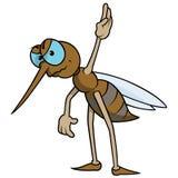 Mosquito con la mano aumentada Fotografía de archivo