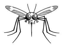 Mosquito de malária da cabeça de mortes ilustração stock