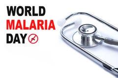 Mosquito de MALARIA que chupa el aler del virus de Zika del día de la malaria del mundo de la sangre Foto de archivo libre de regalías